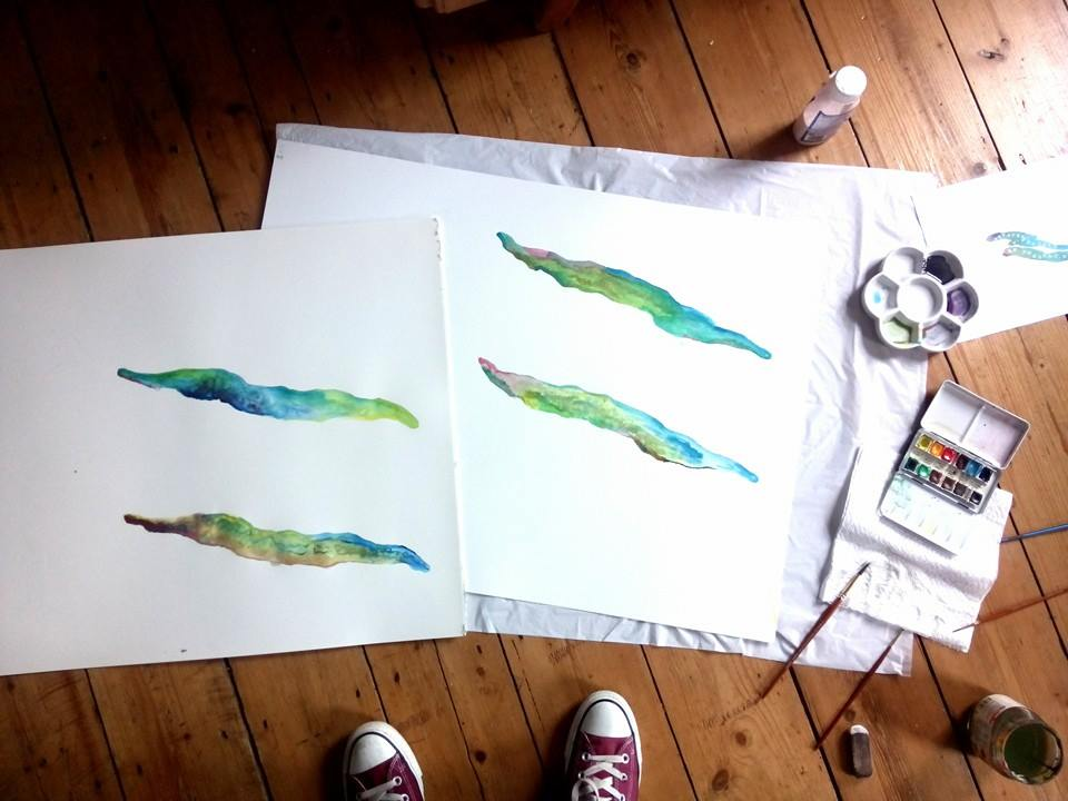 creating the watercolours