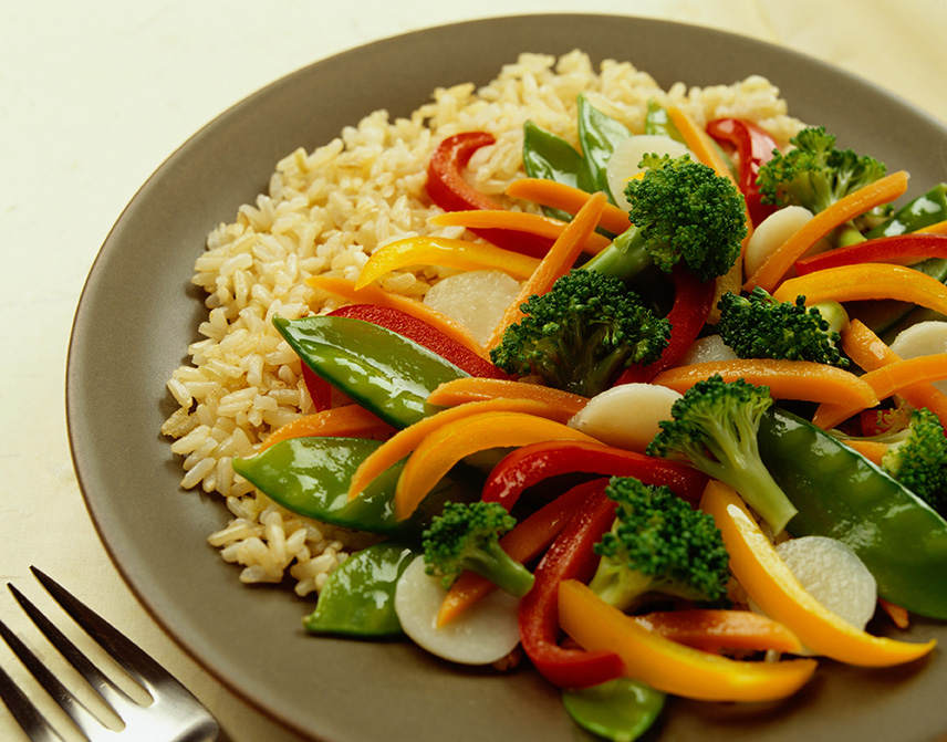 a healthy vegan stir-fry