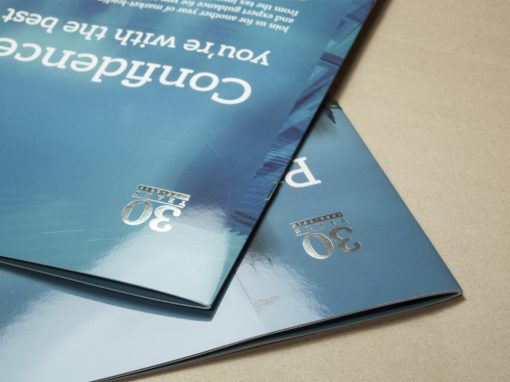 High-spec brochure for insurance firm