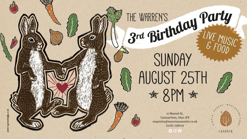 social media banner for The Warren Mansel Street by Carmarthen graphic designer Frank Duffy