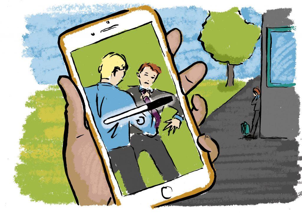 anti bullying illustrations for children's commissioner in wales carmarthen illustrator Frank Duffy