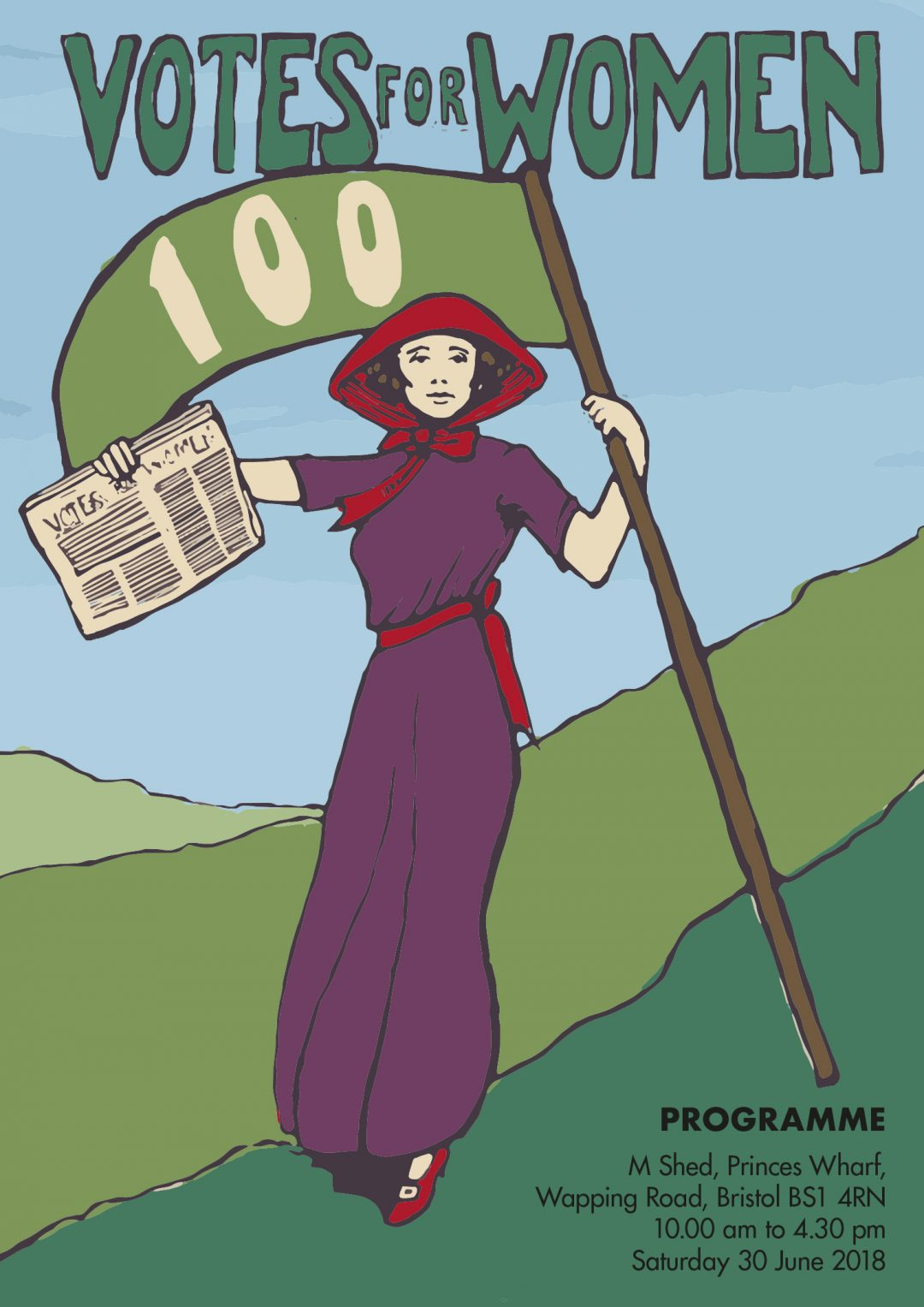 suffragette illustration south wales illustrator Frank Duffy votes for women 100 anniversary