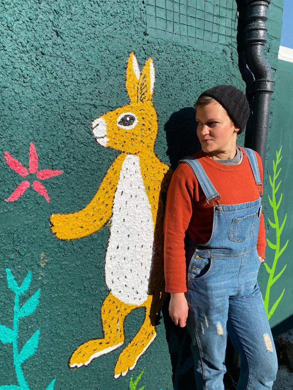 queer mural artist wales wall art