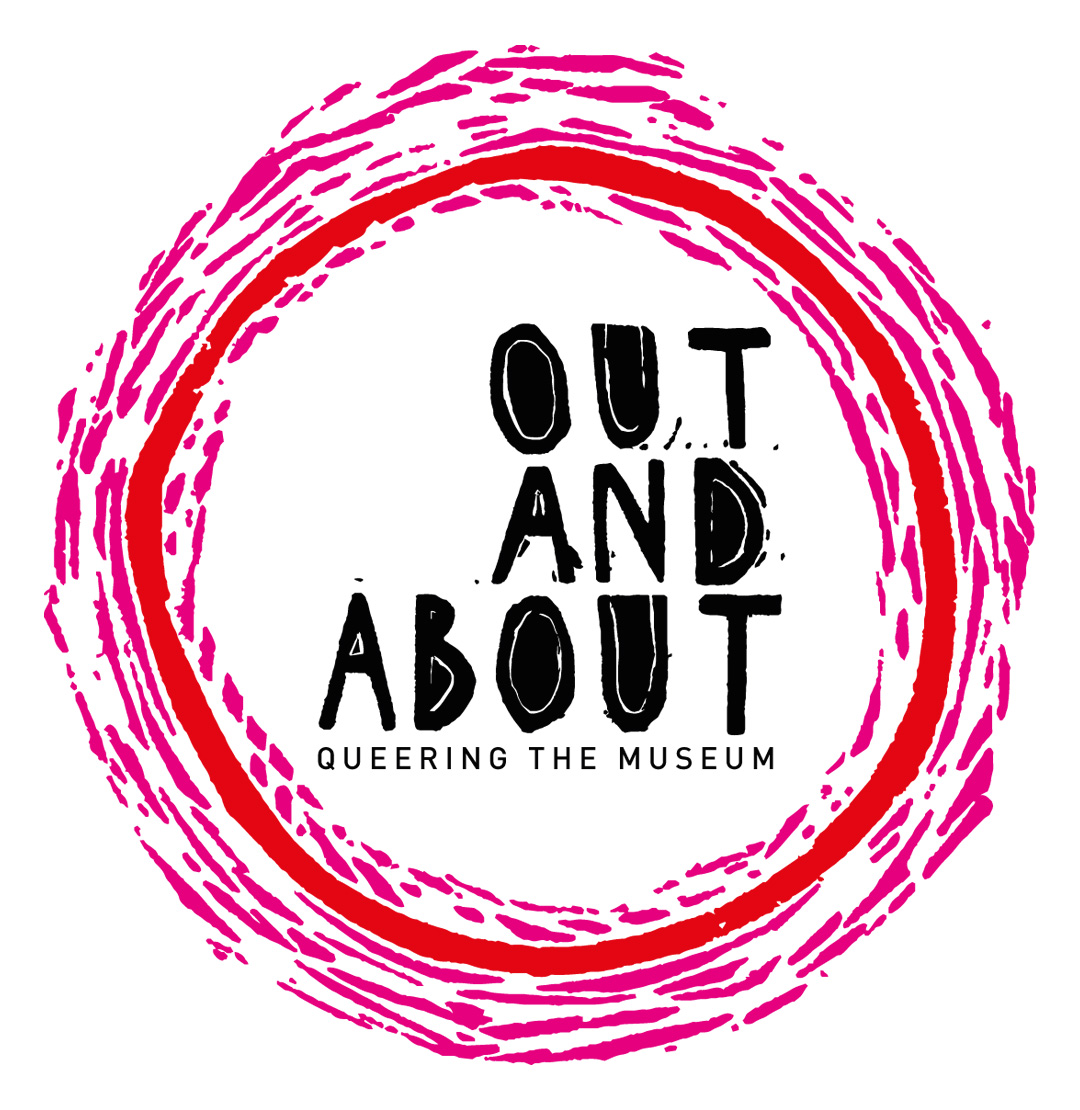 logo design for Out and About Queering the museum Exeter University RAMM